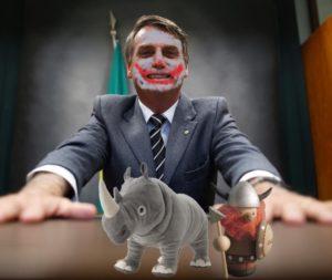 Bolsonaro, o rinoceronte e o palhaço viking