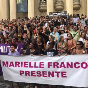 Ato na Cinelândia pela morte da vereadora Marielle Franco