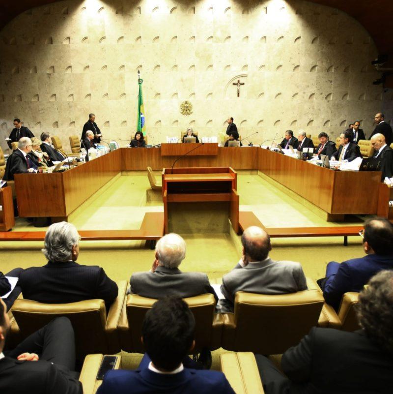 STF durante o julgamento do Habeas Corpus preventivo de Lula