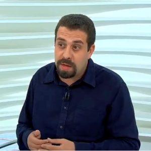 Guilherme Boulos no programa Roda Viva da TV Cultura