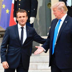 Trump e Macron. Acordo nuclear com o Irã