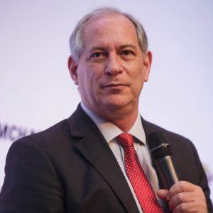Ciro Gomes em evento em São Paulo.