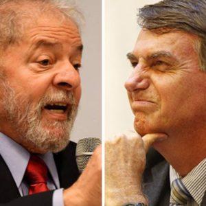 Pesquisa Ibope. Lula e Bolsonaro