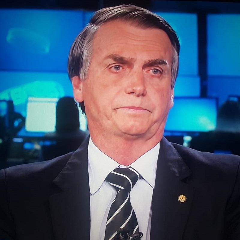 Jair Bolsonaro no Jornal Nacional, em entrevista em 28/08/2018