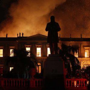 incêndio no museu nacional na quinta da boa vista no rio de janeiro