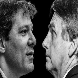 DATAFOLHA: Haddad cresce e diminui distância após escândalo do Caixa 2 de Bolsonaro
