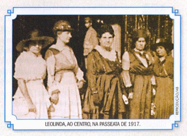 leolinda daltro passeata em 1917