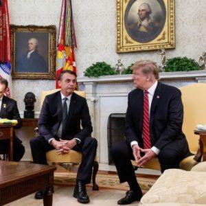 Trump recebe Bolsonaro na Casa Branca: Foto: Isac Nóbrega/PR