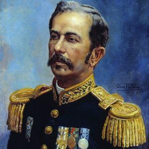 Retrato de Marechal Floriano Peixoto. Pintura de Oscar Pereira da Silva. Obra que integra o acervo do Museu Paulista da USP.