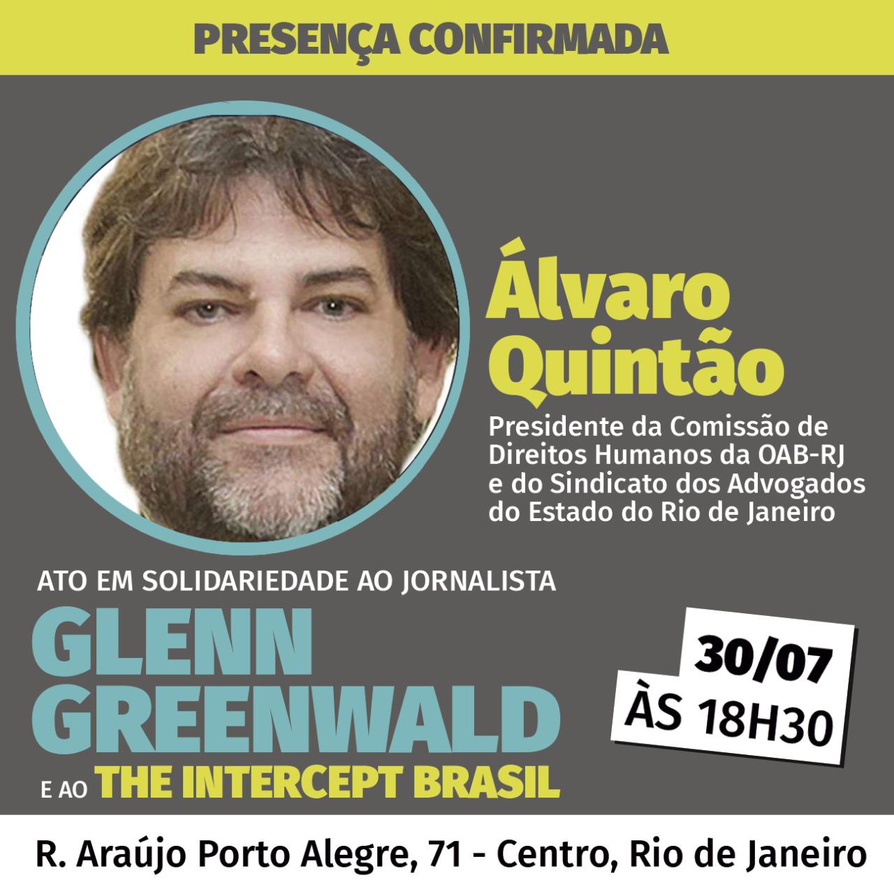 ABI organiza ato em defesa de Glenn Greenwald e da liberdade de imprensa