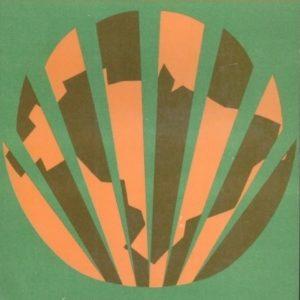 Imagem de capa original do II PND. Círculo entrecortado em laranja e marrom, formando o mapa do Brasil.