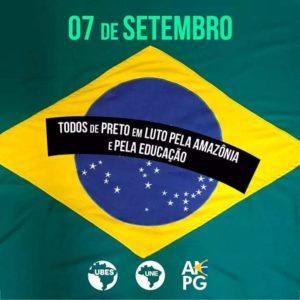 Estudantes convocam atos no 7 de setembro pela educação e em defesa da amazônia