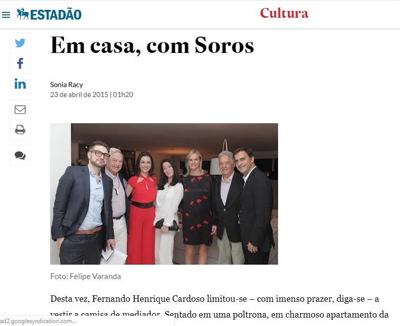 Lemann George Soros FHC banquete luciano huck renovabr open society sonia racy estadao