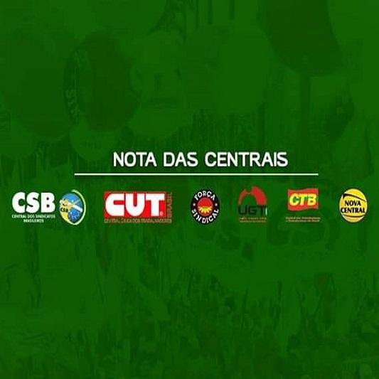 Nota das Centrais Sindicais contra o golpe de Bolsonaro