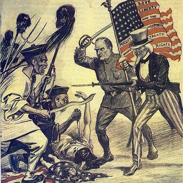 A tríplice aliança racista e imperialista contra a China