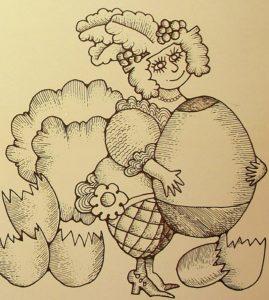 Ilustração do encarte do disco Falso Brilhante