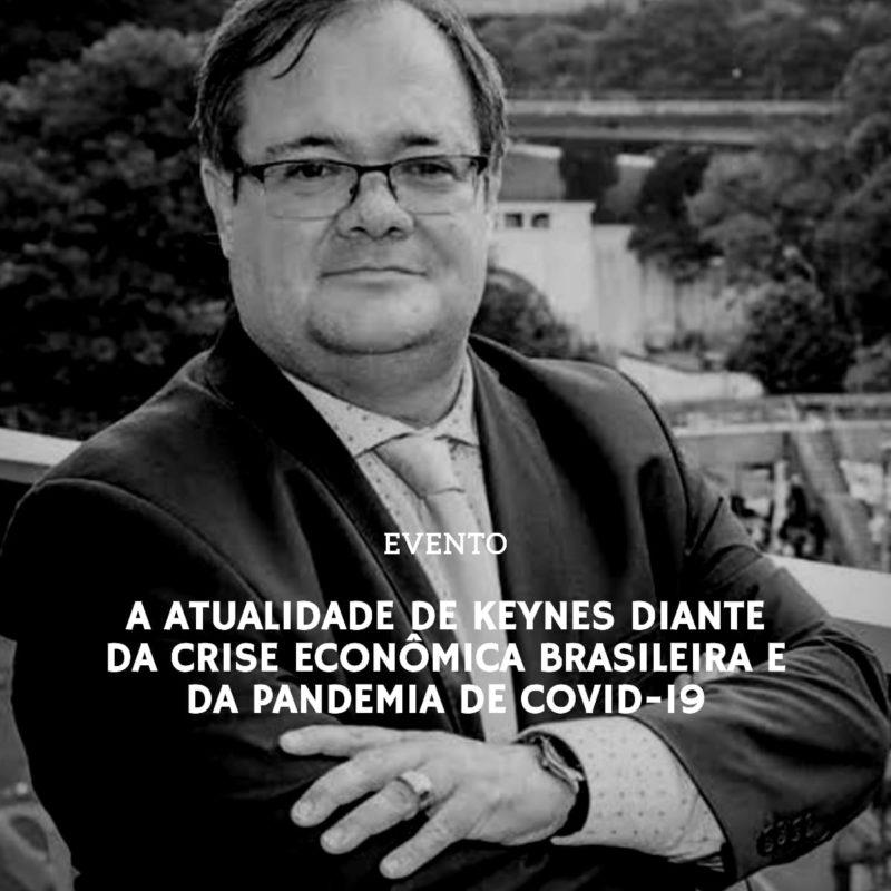 O Portal Disparada tem a satisfação de receber, nesta sexta-feira (7 de agosto), às 18h, o economista José Luis Oreiro, professor da Universidade de Brasília, para revisitar o pensamento de John Maynard Keynes diante da atual crise econômica e sanitária que atravessa o Brasil.