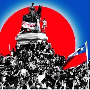 Colagem sobre plebiscito no Chile