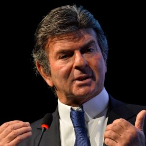 O ministro do Supremo Tribunal Federal, Luiz Fux, participa da primeira edição anual do Fórum Nacional Tributário.