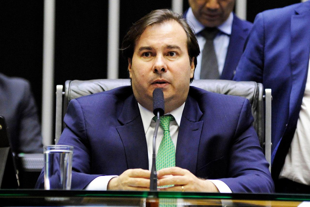 O presidente da Câmara dos Deputados, Rodrigo Maia (DEM-RJ), durante sessão extraordinária em Brasília (DF)